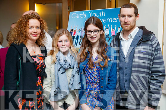 Suzanne, Edie, Maisie and Gary Hall, Castlegregory,  pictured at the Lee Strand Kerry Garda Youth Achievement Awards 2017 at Ballyroe Heights Hotel, Tralee, on Friday night last.
