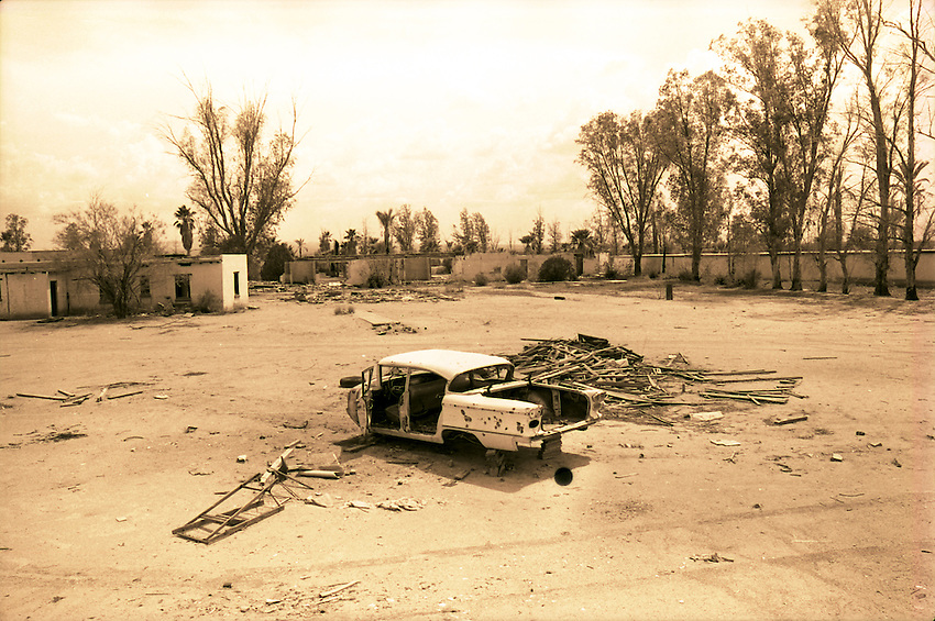 This is an old car at the former El Rancho Diablo, west of Tucson, near Ryan Field. This is a July 28, 1976 file photo.
