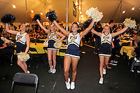 20 December 2011:  FIU cheerleaders fire up tailgating fans prior to the game.  The Marshall University Thundering Herd defeated the FIU Golden Panthers, 20-10, to win the Beef 'O'Brady's St. Petersburg Bowl at Tropicana Field in St. Petersburg, Florida.