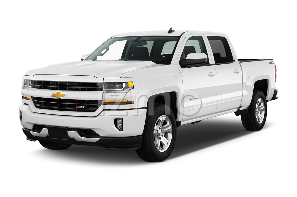 2017 Chevrolet Silverado-1500 LT-Z71-Crew 4 Door Pick-up Angular Front stock photos of front three quarter view