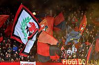 Genoa fans cheer on during the Serie A 2018/2019 football match between Genoa CFC and Juventus FC at stadio Luigi Ferraris, Genova, March 17, 2019 <br /> Photo Andrea Staccioli / Insidefoto
