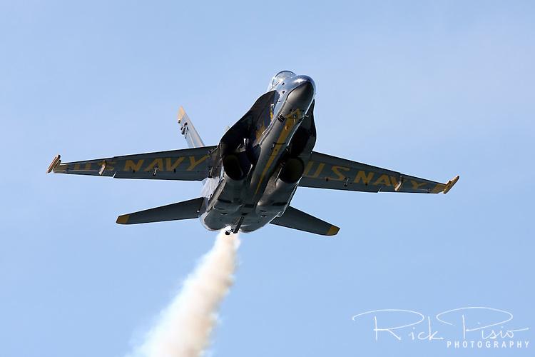 Blue Angel Leader in low level flight