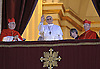 "POPE FRANCIS l.Cardinal Jorge Mario Bergoglio of Argentina who was elected the 266th Pope of the Roman Catholic Church_Vatican, 13/3/2013.Cardinal Bergoglio, a Jesuit, who chose the Papal Name of Franciscus is the first Pope to come from the Americas and the Southern Hemisphere..The change followed the resignation of Pope Benedict in February 2013..Picture Shows: Pope Francis I waving from the balcony of St Peter's Basilica on his election..Mandatory Credit Photo: ©Laruffa-Sestini/NEWSPIX INTERNATIONAL..**ALL FEES PAYABLE TO: ""NEWSPIX INTERNATIONAL""**..IMMEDIATE CONFIRMATION OF USAGE REQUIRED:.Newspix International, 31 Chinnery Hill, Bishop's Stortford, ENGLAND CM23 3PS.Tel:+441279 324672  ; Fax: +441279656877.Mobile:  07775681153.e-mail: info@newspixinternational.co.uk"