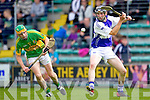 Darren Dineen Saint Brendans in action against Stephen Power Lixnaw in the Senior County Hurling Final at Austin Stack Park Tralee on Sunday.