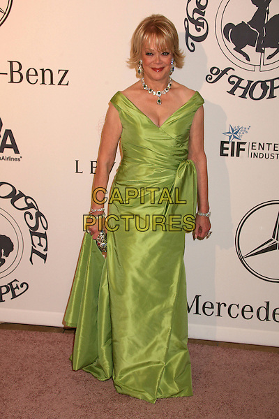 CANDY SPELLING.17th Annual Carousel of Hope Ball at the Beverly Hilton Hotel, Beverly Hills, California, USA..October 28th, 2006.Ref: ADM/BP.full length green dress.www.capitalpictures.com.sales@capitalpictures.com.©Byron Purvis/AdMedia/Capital Pictures.