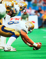 Eric Shaw Winnipeg Blue Bombers 1991. Copyright photograph Scott Grant