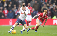 Preston North End's Alan Browne in action with Nottingham Forest's Jack Colback<br /> <br /> Photographer Mick Walker/CameraSport<br /> <br /> The EFL Sky Bet Championship - Nottingham Forest v Preston North End - Saturday 8th December 2018 - The City Ground - Nottingham<br /> <br /> World Copyright © 2018 CameraSport. All rights reserved. 43 Linden Ave. Countesthorpe. Leicester. England. LE8 5PG - Tel: +44 (0) 116 277 4147 - admin@camerasport.com - www.camerasport.com