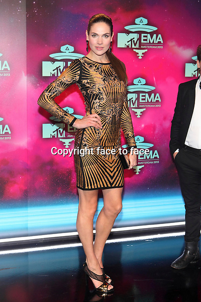 AMSTERDAM - Anna Drijver at the MTV Europe Music Awards 2013 at the Ziggodome in Amsterdam.<br />