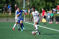 Boston, MA - Saturday June 24, 2017: Taylor Smith during a regular season National Women's Soccer League (NWSL) match between the Boston Breakers and the North Carolina Courage at Jordan Field.