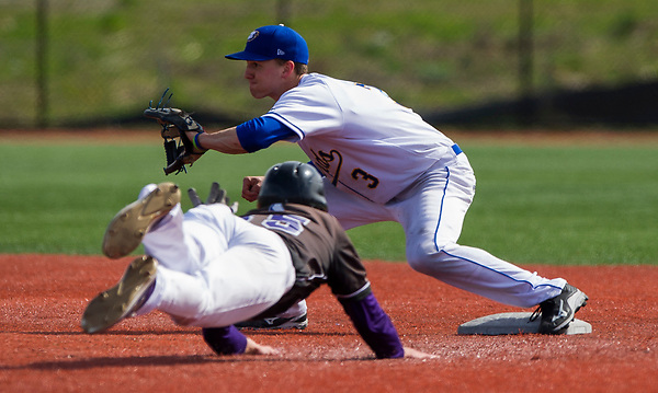 VANCOUVER,BC:MARCH 25, 2017 -- UBC Thunderbirds v College of Idaho Coyotes during NAIA Baseball action at UBC in Vancouver, BC, March, 25, 2017. (Rich Lam/UBC Athletics Photo) <br /> <br /> ***MANDATORY CREDIT***