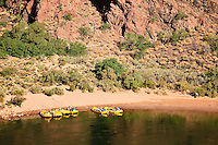 Boat Beach, on the Colorado River just below the Kaibab Suspension Bridge at the bottom of Grand Canyon National Park.