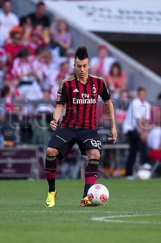 01.08.2013. Munich, Germany.  Stephan El Shaarawy (Milan) Audi Cup 2013 match between AC Milan 1-0 Sao Paulo FC at Allianz Arena in Munich, Germany.