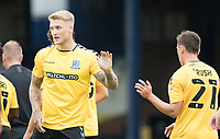 Rush congratulates goalscorer Stephen Humphrys, Southend United, during Southend United vs West Ham United Under-21, EFL Trophy Football at Roots Hall on 8th September 2020