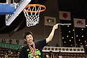 Takeki Shonaka (Alvark), .APRIL 22, 2012 - Basketball : .JBL FINALS 2011-2012 GAME 4 .between Aisin Sea Horses 64-83 Toyota Alvark .at 2nd Yoyogi Gymnasium, Tokyo, Japan. .With this victory Toyota Alvark won their first championship in 5 years..
