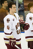 Mike Brennan (Boston College - Smithtown, NY) - The Boston College Eagles defeated the Miami University Redhawks 4-0 in the 2007 NCAA Northeast Regional Final on Sunday, March 25, 2007 at the Verizon Wireless Arena in Manchester, New Hampshire.