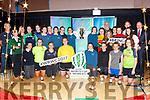 Colaiste na Sceilge Junior & Senior Rugby players pictured with the Womens Rugby World Cup on Monday pictured front l-r; Róisín O'Shea, Lea Turner, Cliodhna Guiney, Rachel Mangan, Shonagh Fitzpatrick, Caoimhe Cournane, Megan O'Mahony, Mary Ellen Bolger, back l-r; Tony Cournane(Coach), Jane Bryan(Teacher), Carolin Klug(Teacher), Aoibhin Fenton, Cara Coffey, Jessica Galvin, Clodagh Graef, Emily O'Sullivan, Saidbh Brennan, Anna Kate Cournane, Mary Beth O'Donoghue, Casey O'Connell, Robbie O'Mahony(Coach), Maura O'Mahony, Stacey O'Sullivan, Jessica O'Neill, Paul Clifford(Teacher), Cara O'Shea & John O'Connor(Principal).