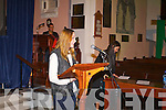 Saoirse Ronan being presented with the Maureen O'Hara award by Roisin McGuigan at Kerry Film Festival awards at Saint Johns Church Ashe Street on Saturday.