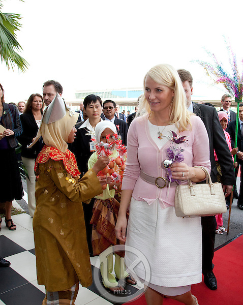 Crown Prince Haakon, and Crown Princess Mette Marit of Norway, on a three day official visit to Malaysia,.visit to Aker Solutions, at Port Klang
