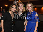 Ciara and Anne Nugent and Ciara Tuite at The Newtown Blues dinner dance in the Westcourt Hotel. Photo:Colin Bell/pressphotos.ie