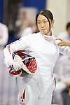 Miho Morioka (JPN),<br /> AUGUST 11, 2013 - Fencing :<br /> World Fencing Championships Budapest 2013, Women's Team Epee Round of 32 at Syma Hall in Budapest, Hungary. (Photo by Enrico Calderoni/AFLO SPORT) [0391]