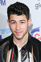 LONDON, UK. June 08, 2019: Nick Jonas poses on the media line before performing at the Summertime Ball 2019 at Wembley Arena, London<br /> Picture: Steve Vas/Featureflash