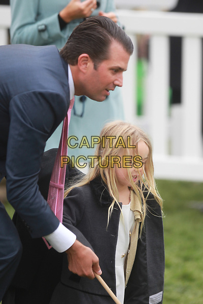 WASHINGTON, DC - APRIL 2: Donald Trump Jr. at the Annual White House Easter Egg Roll on the South Lawn of the White House in Washington, DC on April 2, 2018. <br /> CAP/MPI34<br /> &copy;MPI34/Capital Pictures
