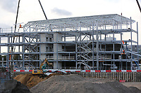 General view of the ongoing work taking place at  Brentford FC's new Community Stadium in Lionel Road South during Brentford vs Birmingham City, Sky Bet EFL Championship Football at Griffin Park on 2nd October 2018