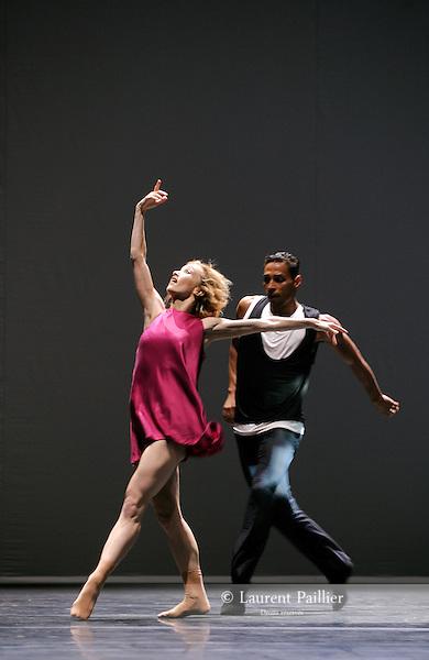 QUINTETT<br /> <br /> Choregraphie : FORSYTHE William<br /> Compositeur : Gavin Bryars - Jesus' blood never failed me yet<br /> Compagnie : Ballet de l'Opera de Lyon<br /> Lumiere : FORSYTHE William<br /> Costumes : GALLOWAY Stephen<br /> Decors : FORSYTHE William<br /> Avec : <br /> GKEKAS Harris<br /> LAIZET Franck<br /> NELSON Jean-Claude<br /> VANDAMME Agalie<br /> KNIGHT Caelyn<br /> Lieu : Opera de Lyon<br /> Cadre : Biennale de la danse 2010<br /> Ville : Lyon<br /> Le : 2010 09 23<br /> <br /> &copy; Laurent PAILLIER / www.photosdedanse.com<br /> All Rights reserved