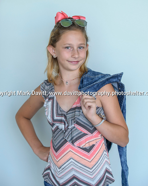 Warren County fashion review was held July 25. McKinnah Spear of the Belmont Baggers entry was in Clothing Selection.
