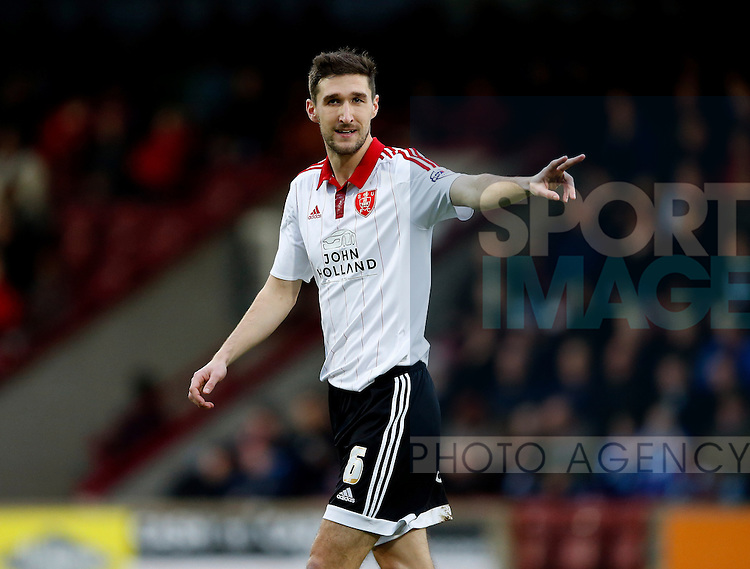 Chris Basham of Sheffield Utd - English League One - Scunthorpe Utd vs Sheffield Utd - Glandford Park Stadium - Scunthorpe - England - 19th December 2015 - Pic Simon Bellis/Sportimage