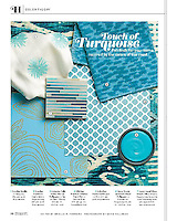 Coastal Living Magazine features Loom, a handmade jewel glass mosaic by Sara Baldwin for New Ravenna Mosaics, in the September 2014 issue.