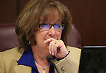 Nevada Sen. Debbie Smith, D-Sparks, works in committee at the Legislative Building in Carson City, Nev. on Tuesday, Feb. 5, 2013. .Photo by Cathleen Allison