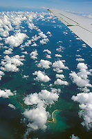 Small islands in the Philippine Sea, seen from the air, Philippines