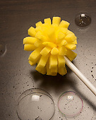 Yellow dish washing sponge for dishes