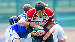 Players in action during the Day 2 of the IRB Junior World Rugby Trophy 2014 at the Hong Kong Football Club on April 11, 2014 in Hong Kong, China. Photo by Chung Yan / Power Sport Images