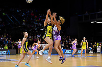 Pulse&rsquo; Karin Burger and Stars&rsquo; Holly Fowler in action during the ANZ Premiership - Pulse v Stars at TSB Arena, Wellington, New Zealand on Monday 13 May 2019. <br /> Photo by Masanori Udagawa. <br /> www.photowellington.photoshelter.com