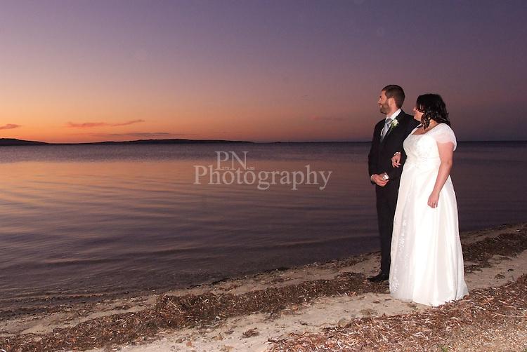 Reeves Point kangaroo Island South Australia wedding photos were taken as the sunset at Bay of Shores