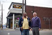 Joe Bushfan and Dan Hill outside Joe's Dinner on the corner of Angier Avenue and Driver Street in Durham, N.C., Nov.  15, 2010. .