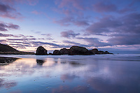 Sunrise at Gold Beach on the rugged southern  Oregon Coast.