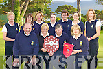 The Killarney Senior foursomes that will be playing in the All Ireland semi final in Donabate, Dublin this weekend front row l-r: Pat Courtney President, Eileen Whelan co-manager, Mary Geaney co-manager, Breda Duggan Lady Captain. Back row: Mags Hayes, Amy Arthur, Ailish Mulcahy, Margaret Campion, Mary Sheehy, Eimear O'Donnell and Anne Moynihan