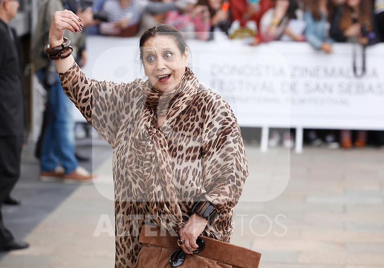 Actress Terele Pavez arriving Maria Cristina hotel during the 61 San Sebastian Film Festival, in San Sebastian, Spain. September 21, 2013. (ALTERPHOTOS/Victor Blanco)