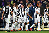 9th February 2018, Stadio Artemio Franchi, Florence, Italy; Serie A football, ACF Fiorentina versus Juventus; Federico Bernardeschi (C) of Juventus celebrates with his teammates after scoring in the 56th minute