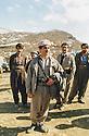 Iran 1990 <br /> At the meeting of the Kurdistan Front in Kasmarach, Sidat Barzani and behind right, Sami Abdul Rahman <br /> Iran 1990 <br /> A Kasmarach, rencontre du Front du Kurdistan, au premier plan, Sidat Barzani et derriere lui , a droite,Sami Abdul Rahman