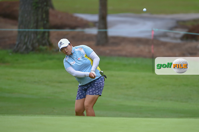 Shanshan Feng (CHN) chips on to 10 during round 1 of the U.S. Women's Open Championship, Shoal Creek Country Club, at Birmingham, Alabama, USA. 5/31/2018.<br /> Picture: Golffile | Ken Murray<br /> <br /> All photo usage must carry mandatory copyright credit (© Golffile | Ken Murray)