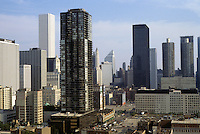 "Chicago: Panorama from high in Lawson ""Y"". Looking southeast from Chicago Ave. & Dearborn. Photo '88."