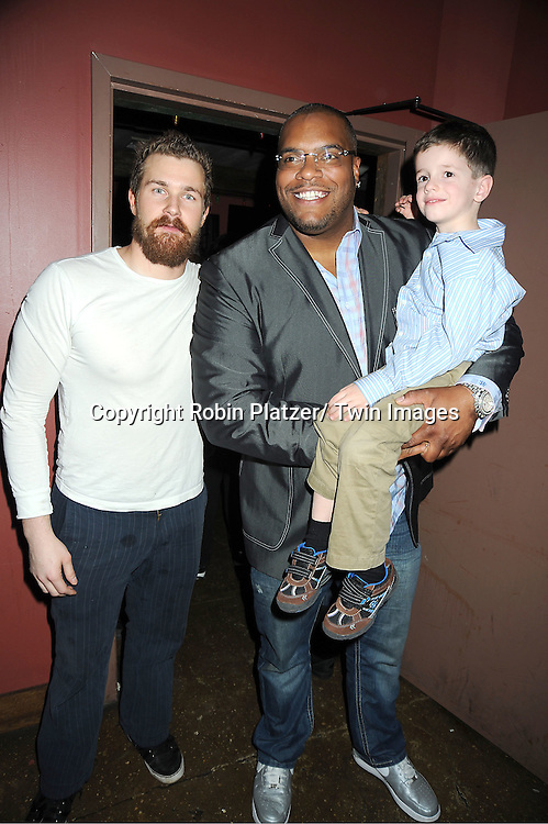 Josh Kelly, Sean Ringgold and Patrick Gibbons, Jr attend The One Life To Live Benefit for The Amber Roach Memorial Garden on January 7, 2012 at Brother .Jimmy's Union Square Restaurant in New York City.