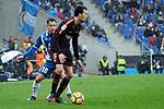 League Santander 2017-2018 - Game: 22.<br /> RCD Espanyol vs FC Barcelona: 1-1.<br /> Jurado vs Sergio Busquets.