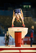 21st March 2018, Arena Birmingham, Birmingham, England; Gymnastics World Cup, day one, womens competition; Alice Kinsella (GBR) on the Vault during  Training