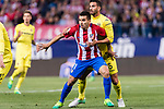 Angel Correa of Atletico de Madrid (L) and Mateo Pablo Musacchio of Villarreal CF (R) in action during the La Liga match between Atletico de Madrid vs Villarreal CF at the Estadio Vicente Calderon on 25 April 2017 in Madrid, Spain. Photo by Diego Gonzalez Souto / Power Sport Images