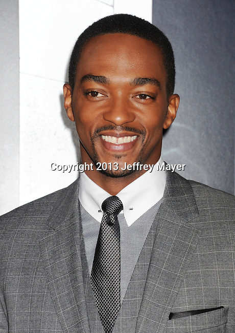 HOLLYWOOD, CA - JANUARY 07: Anthony Mackie arrives at the 'Gangster Squad' - Los Angeles Premiere at Grauman's Chinese Theatre on January 7, 2013 in Hollywood, California.
